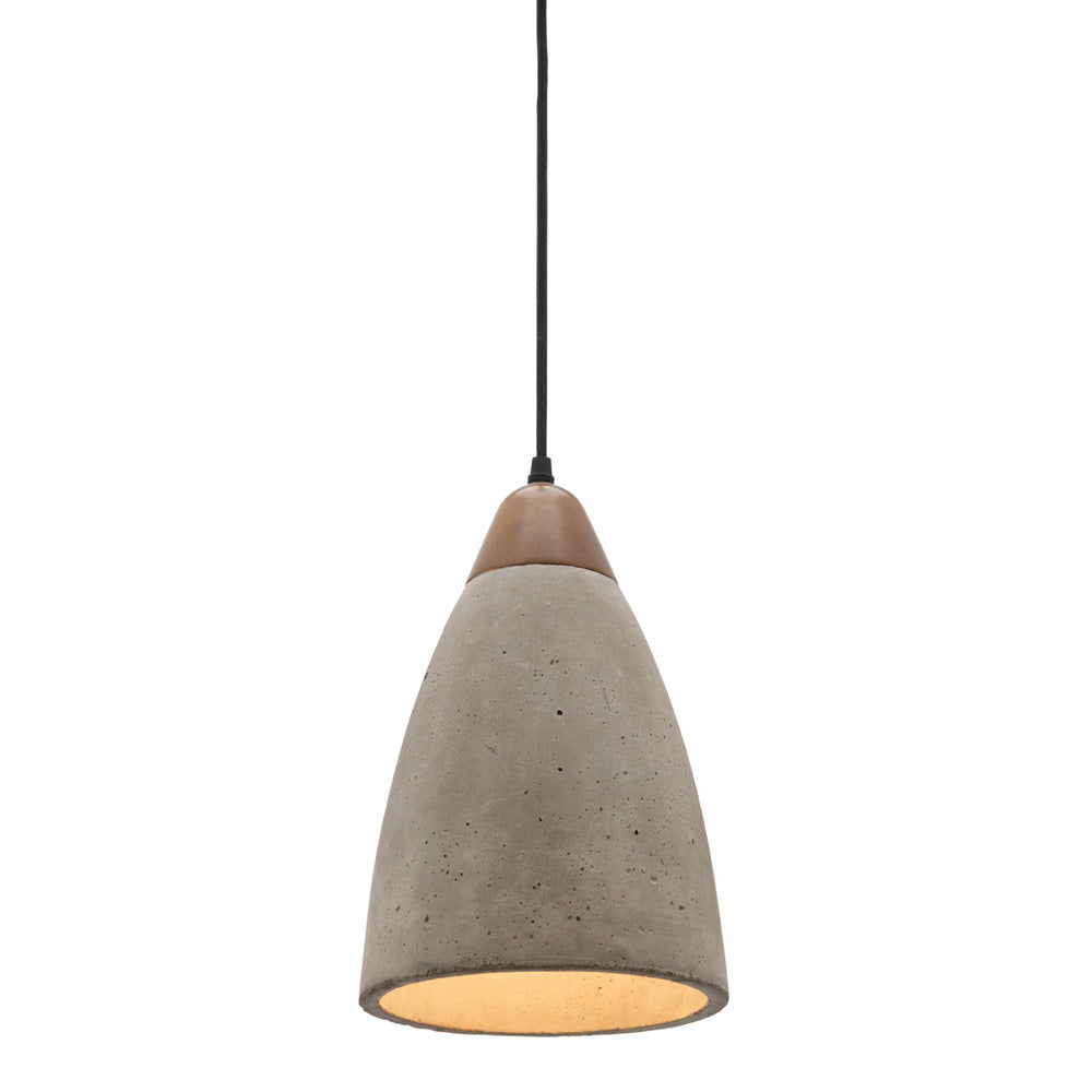 Danska Concrete with Timber Dome Pendant