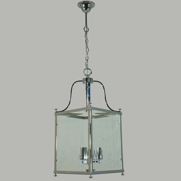 Michigan Chrome Medium 3 Light Lantern Pendant