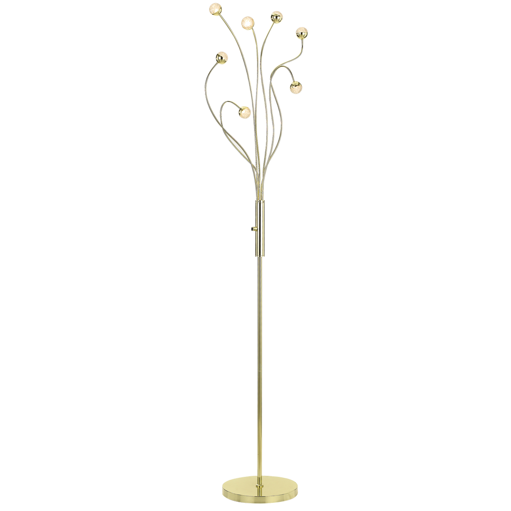 Mindel 7 Light Gold Abstract Branching Floor Lamp
