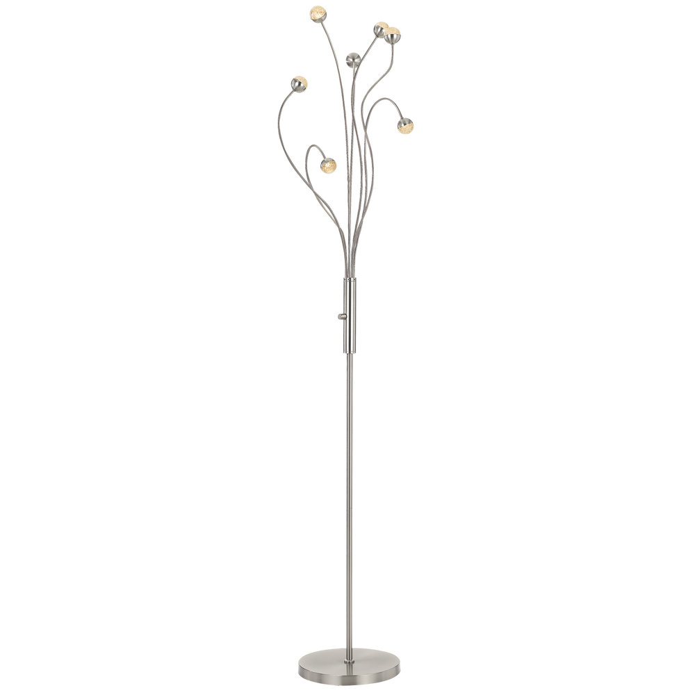 Mindel 7 Light Nickel Abstract Branching Floor Lamp