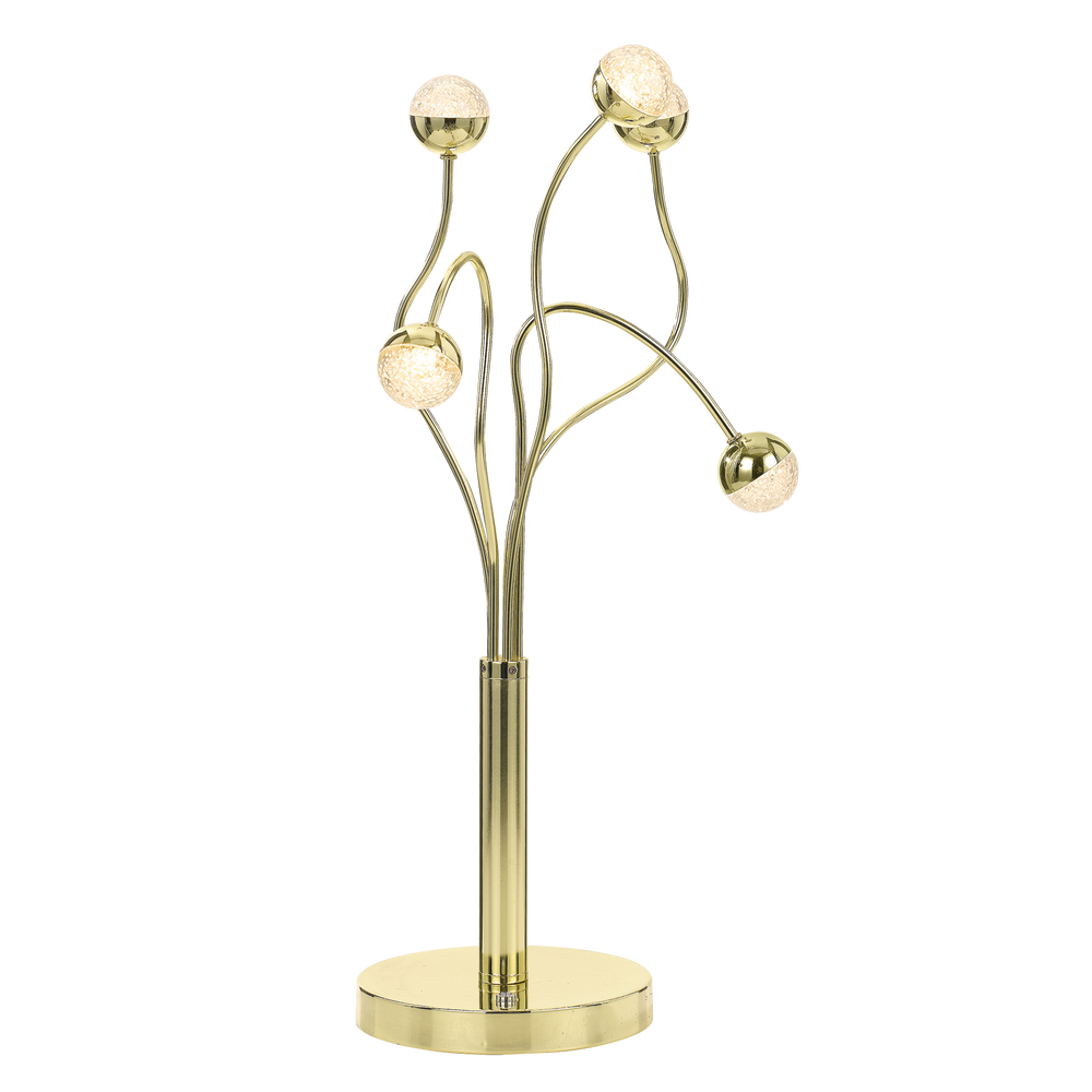 Mindel 5 Light Gold Abstract Branching Table Lamp