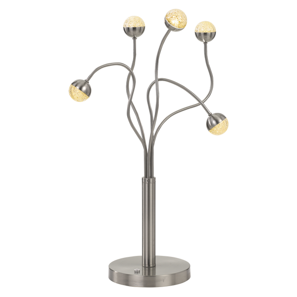 Mindel 5 Light Nickel Abstract Branching Table Lamp