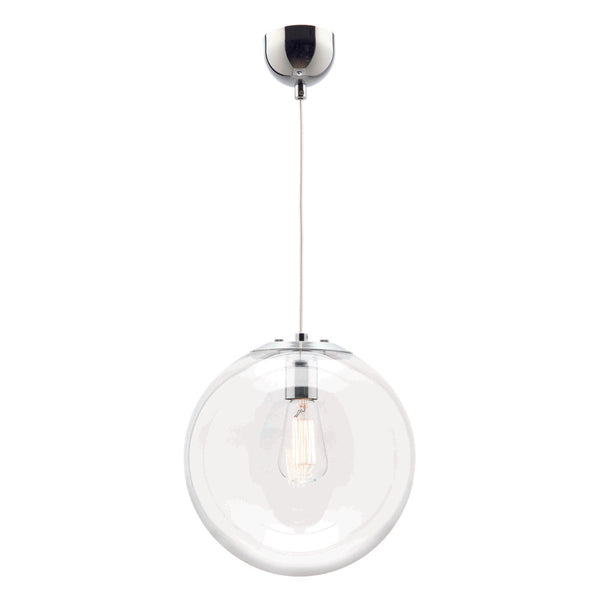 Toledo 25 cm Clear Glass Ball Pendant