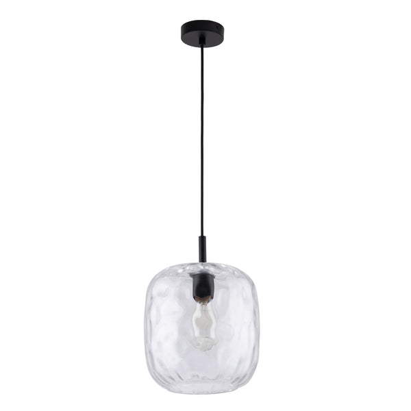 Greta Dimple Clear Glass Modern Pendant