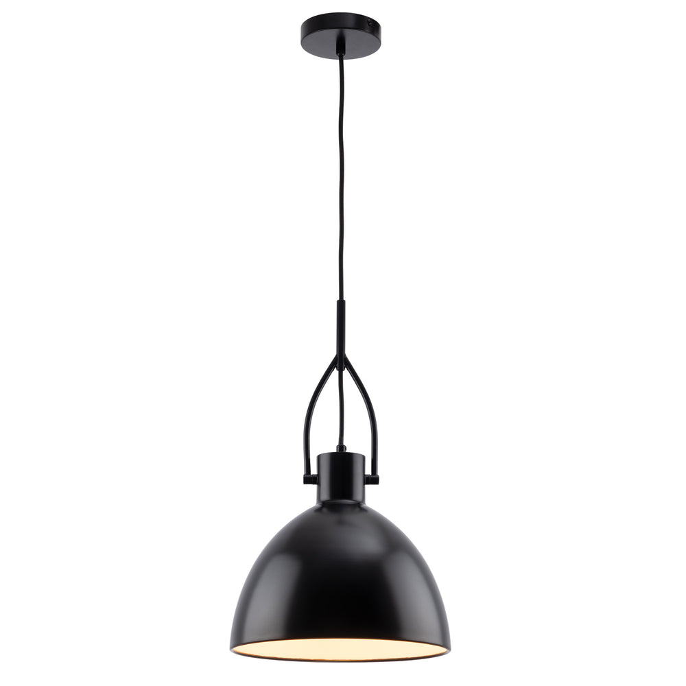 Terrence Modern Matt Black Stirrup Pendant