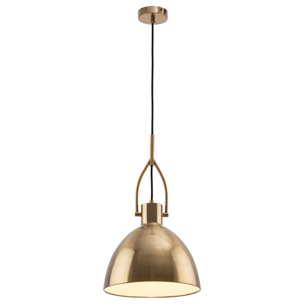 Terrence Modern Brushed Brass Stirrup Pendant