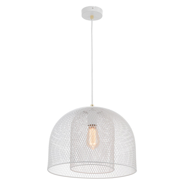 Milford Two-Tier Modern Wire Matt White Pendant