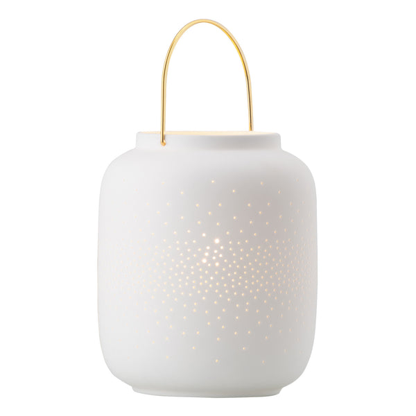 Ellie White Porcelain with Brass Table Lamp