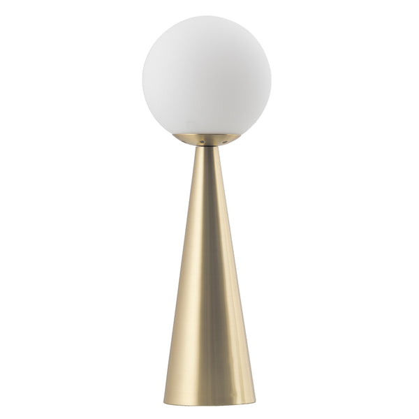 Lucia Satin Brass with Opal Glass Modern Table Lamp