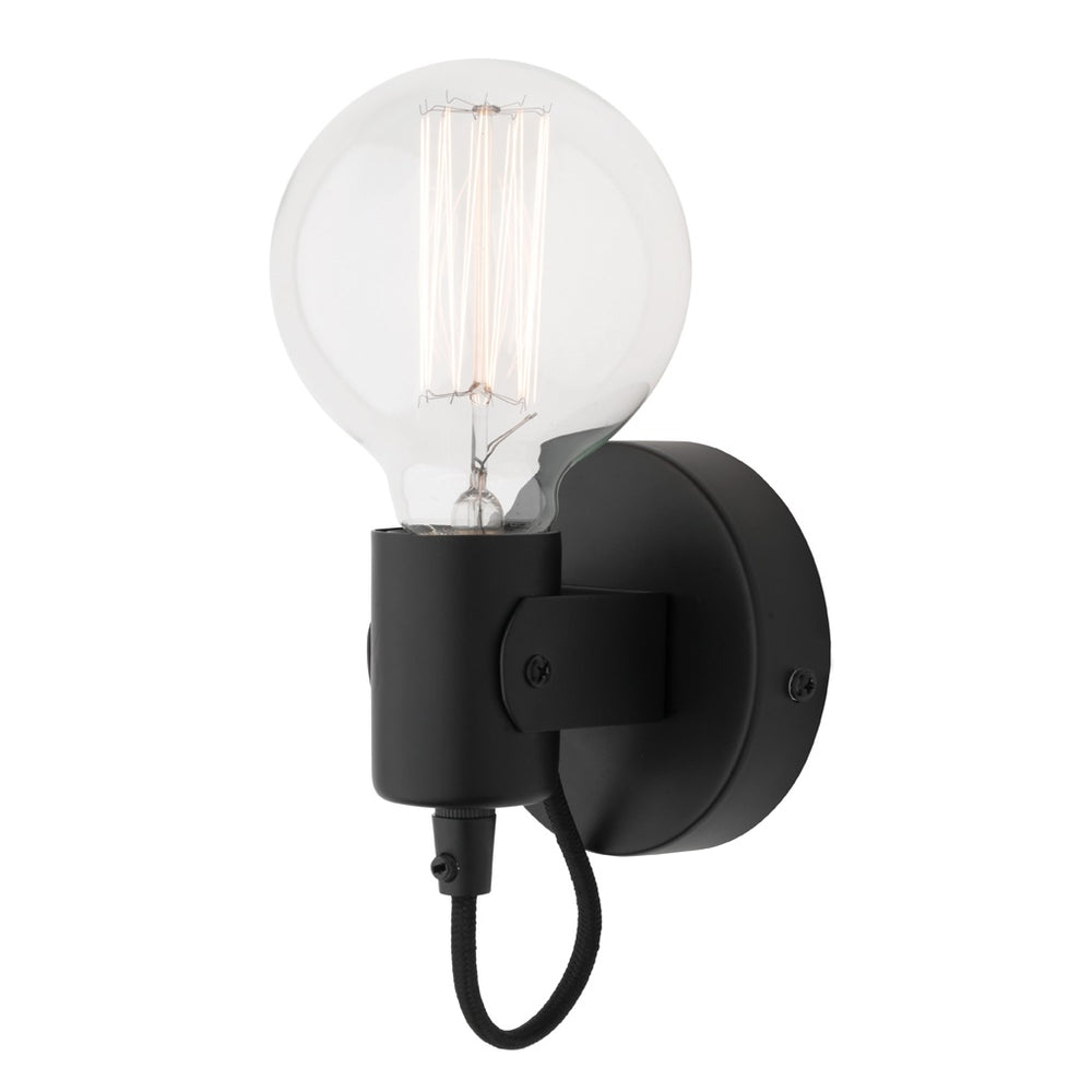 Bronte Black Adjustable Batten Interior Wall Light
