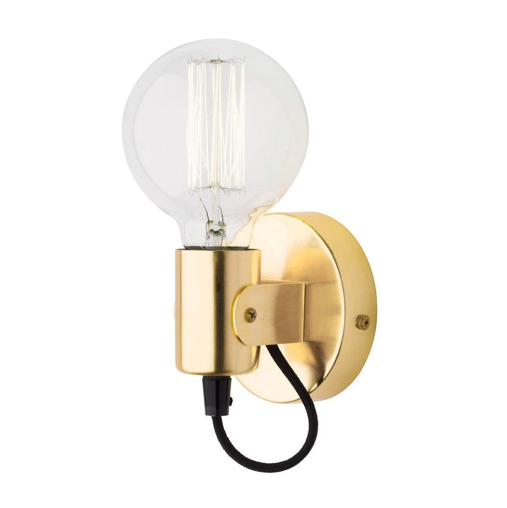 Bronte Brass Adjustable Batten Interior Wall Light