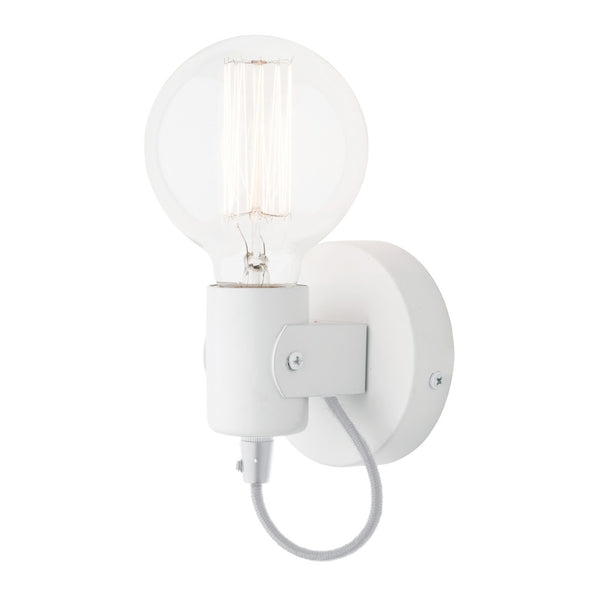 Bronte White Adjustable Batten Interior Wall Light
