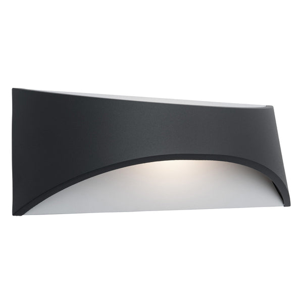 Wells 6w Black Up/Down Highlighter Tri-Colour Exterior Wall Light