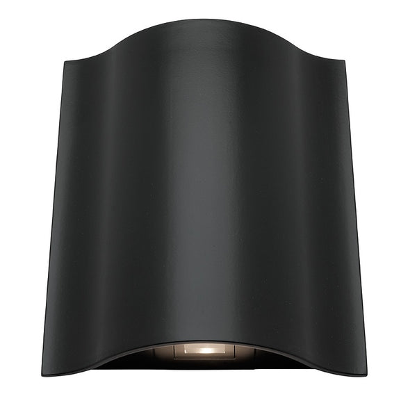 Arch Black Aluminium Curved Wedge Interior/Exterior LED Wall Light