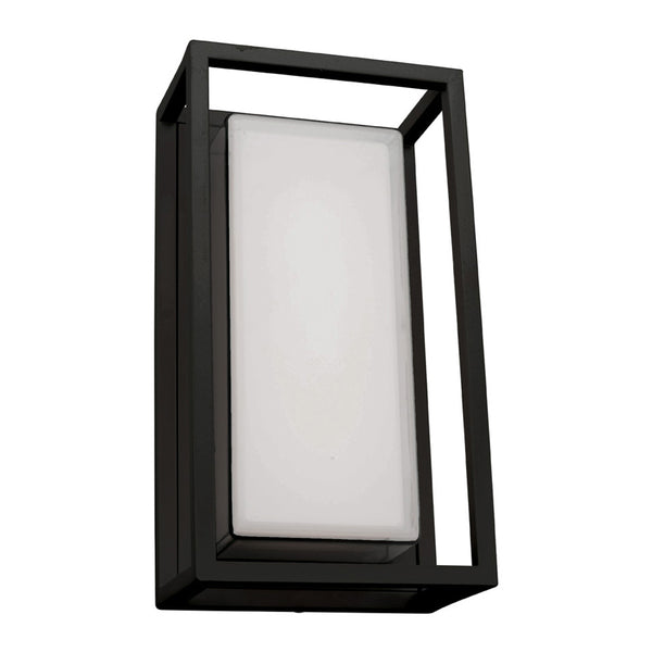 Cayman Black Box and Frame LED Lantern Wall Exterior