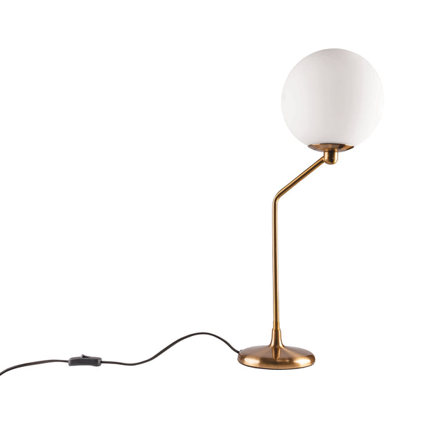 Marilyn Brushed Brass Modern Table Lamp