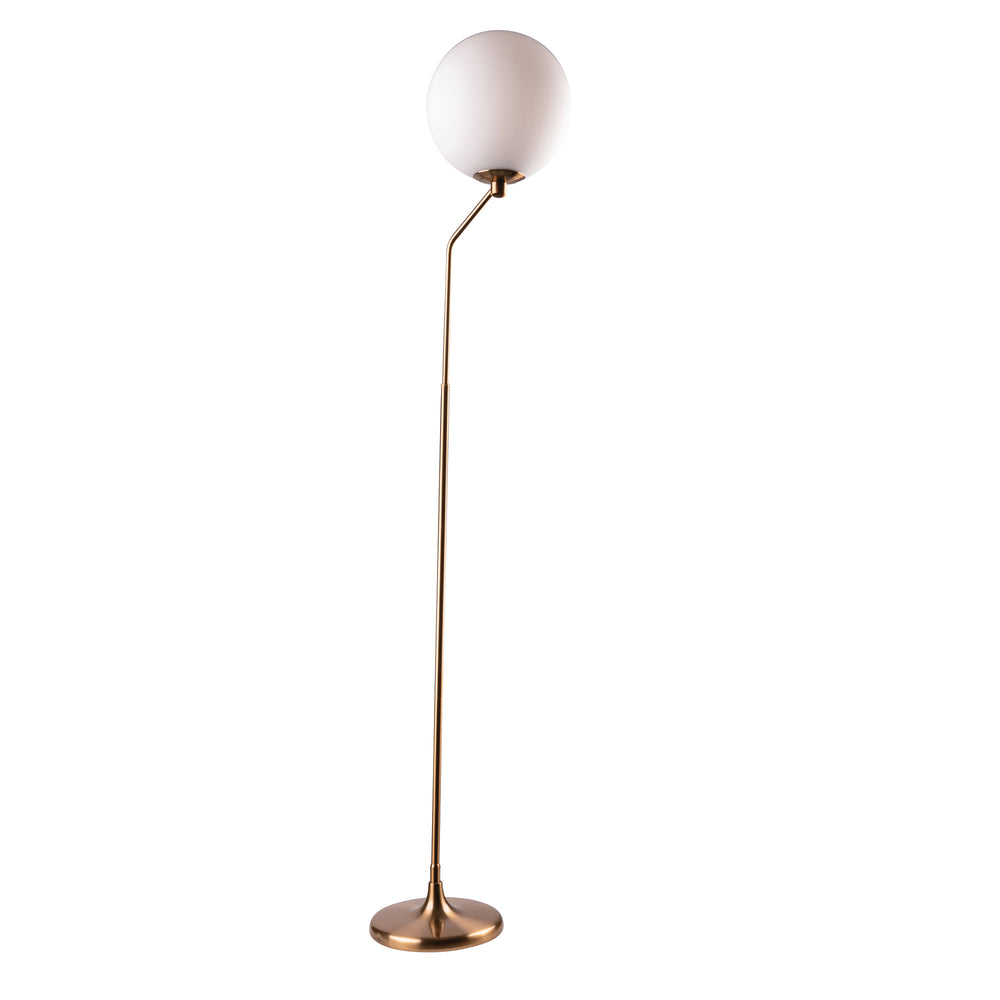 Marilyn Brushed Brass Modern Floor Lamp