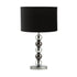 Maxi Modern Black and Chrome Beaded Table Lamp