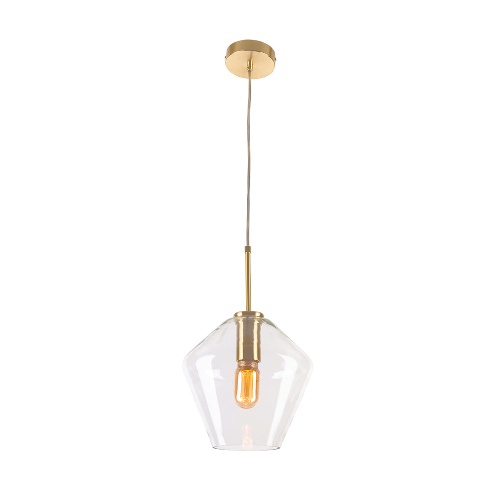 Melba Short Brushed Brass Pendant