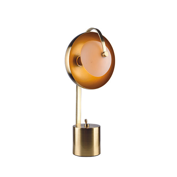 Mercury Brushed Brass Modern Table Lamp
