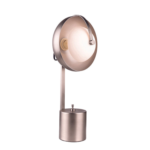 Mercury Aged Nickel Modern Table Lamp