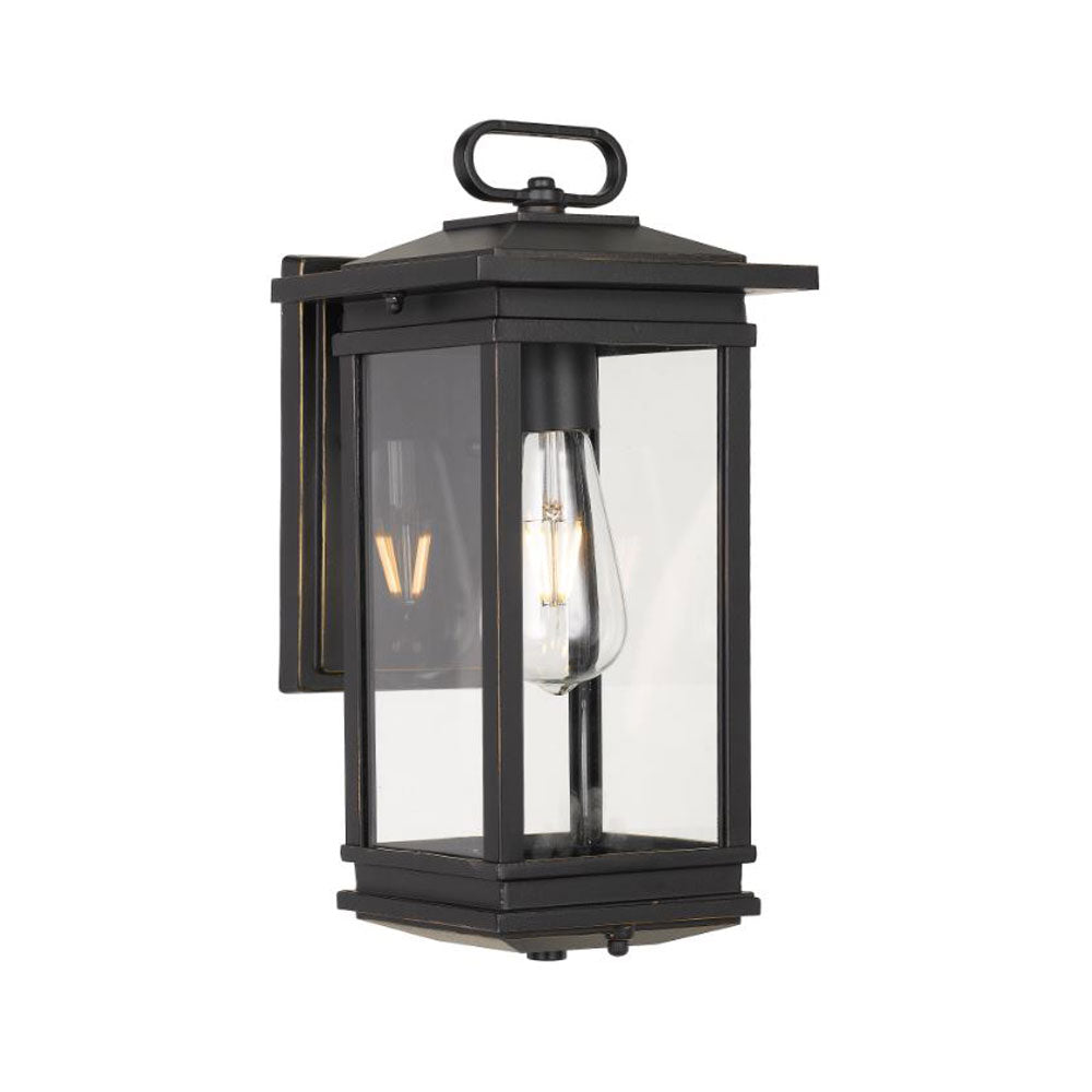 Nevin Rustic Black Industrial Lantern Coach Light