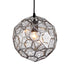 Nest 250 Modern Laser Cut Chrome Pendant