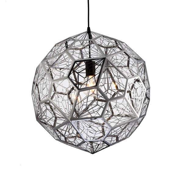Nest 500 Modern Laser Cut Chrome Pendant