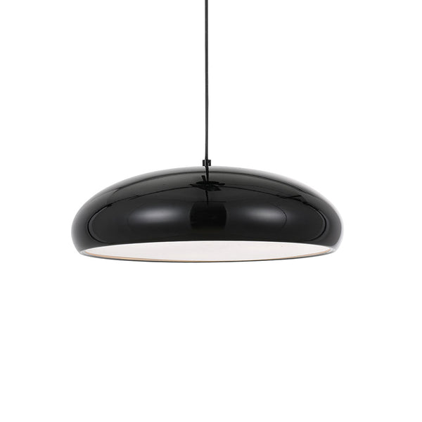 Orlo 45cm Black Wide and Low Dome Pendant