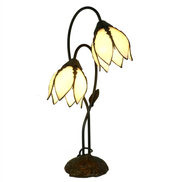 Gentiana Twin Beige Table Lamp