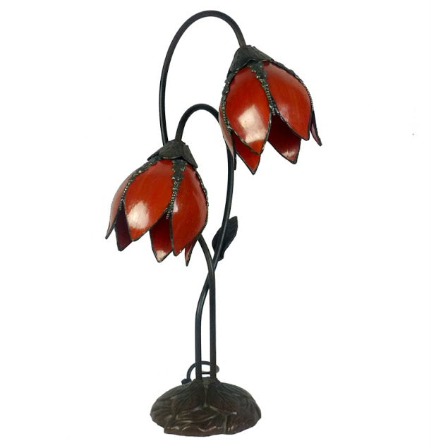 Gentiana Twin Red Table Lamp