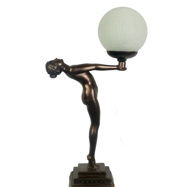 Outstretched Lady Art Deco Table Lamp
