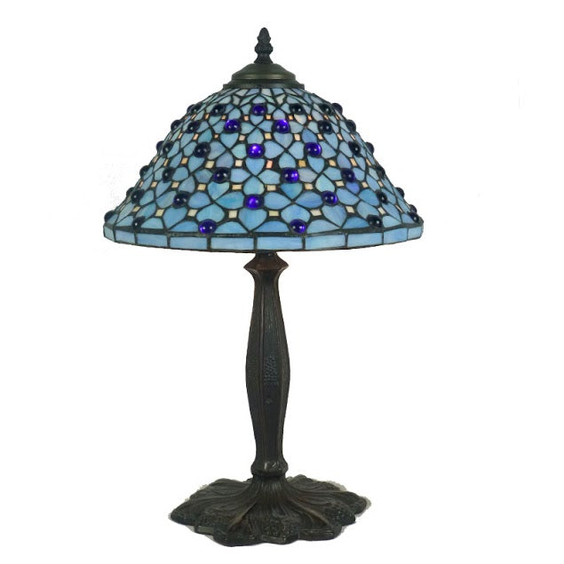"Blue Hepple 12"" Tiffany Table Lamp"