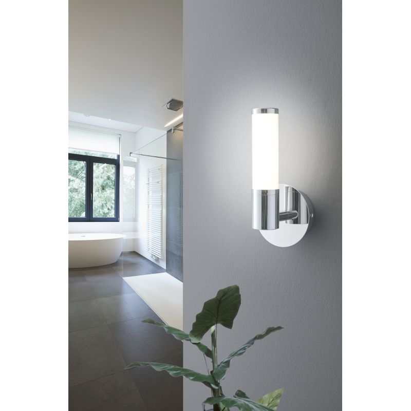 Palmera 1 Chrome Single Pillar Indoor Wall Light