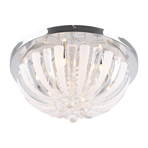 Peta 500 Chrome Acrylic Petal Design Ceiling Fixture by Amond