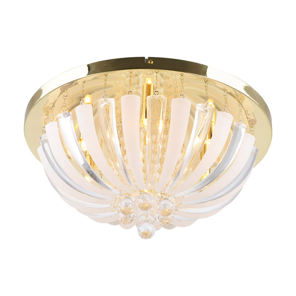 Peta 500 Gold Acrylic Petal Design Ceiling Fixture by Amond