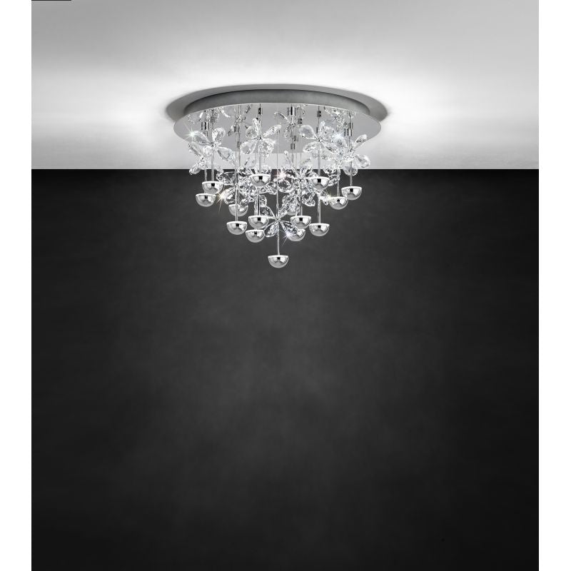 Pianopoli Small Close to Ceiling Crystal Butterfly Cluster