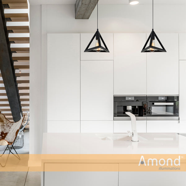 Quinn Geometrical Prism Pendant by Amond
