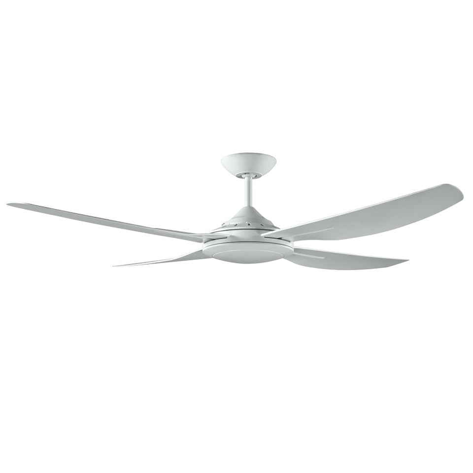 Royale II 1320mm White ABS Plastic Contoured Blade Ceiling Fan By Ventair