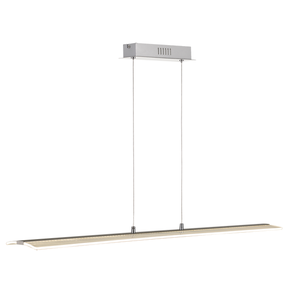 Salter 30w Curved Glass Overlight Linear LED Pendant