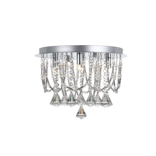 Sandro 5 Light Crystal Prism Drape Close to Ceiling