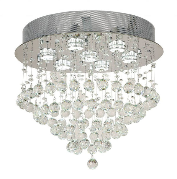 Savina 450mm Spiral Crystal Close to Ceiling