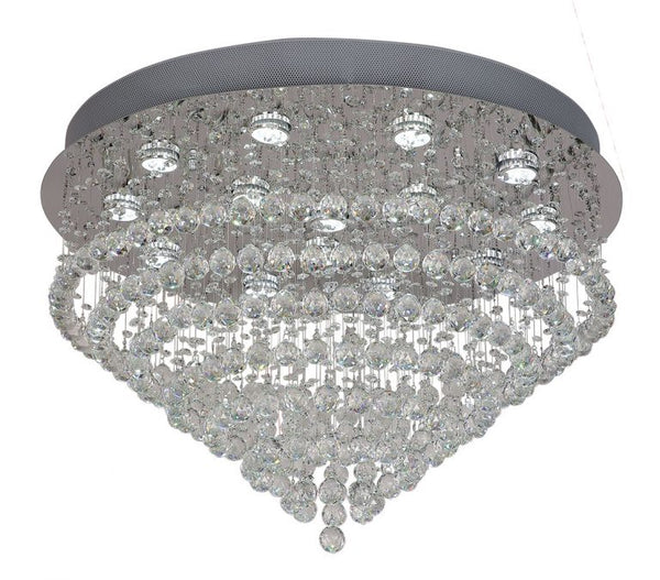 Savina 730mm Spiral Crystal Close to Ceiling
