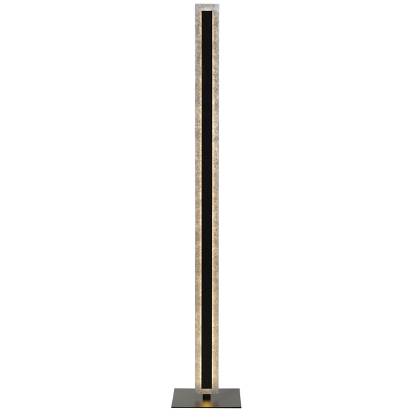 Serano Silver and Black Dual Layer Panel Floor Lamp