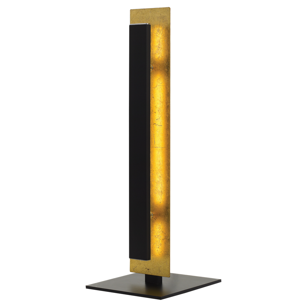 Serano Gold and Black Dual Layer Panel Table Lamp