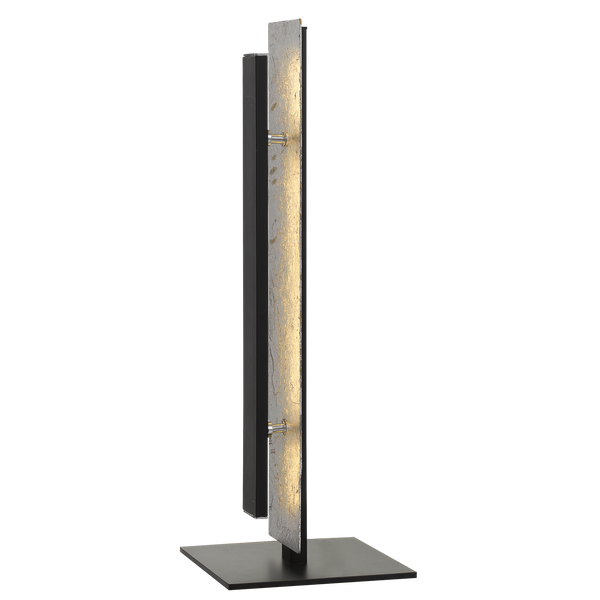 Serano Silver and Black Dual Layer Panel Table Lamp