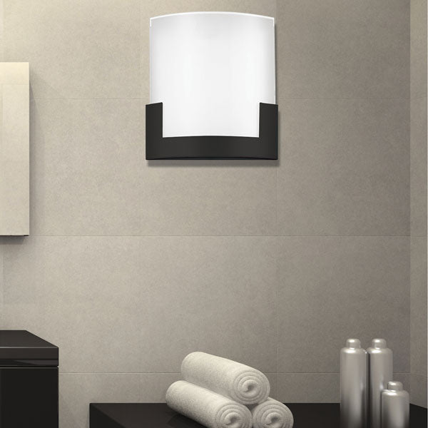 Solita 20cm Black Colour-changing LED Wall Sconce