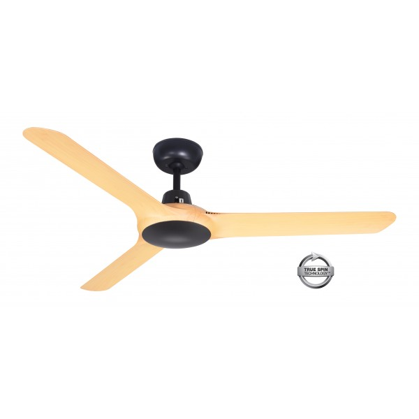 "Spyda 1250mm Bamboo 50"" 3-Blade ABS Plastic Ceiling Fan By ventair"