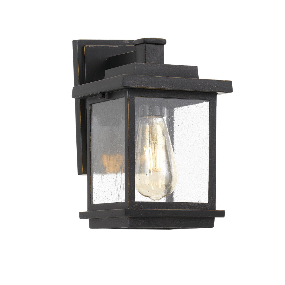 Strand Rustic Black Box Lantern Coach Light