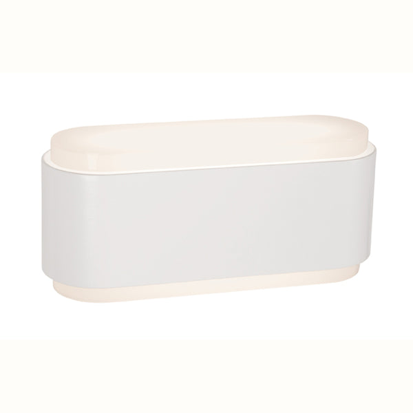 Sabina White LED Ovoid Up/Down Wall Lighter